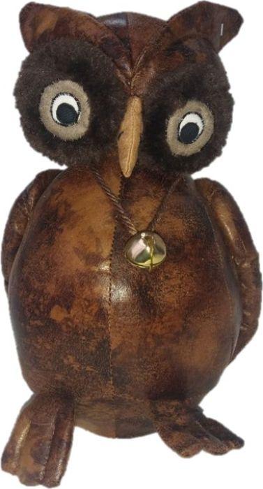 Фигурка-стоппер интерьерная Estro Сова с колокольчикомТ16162Интерьерная игрушка ESTRO ручной работы - это тепло, подаренное мастером. Сова с колокольчиком интерьерная, стоппер