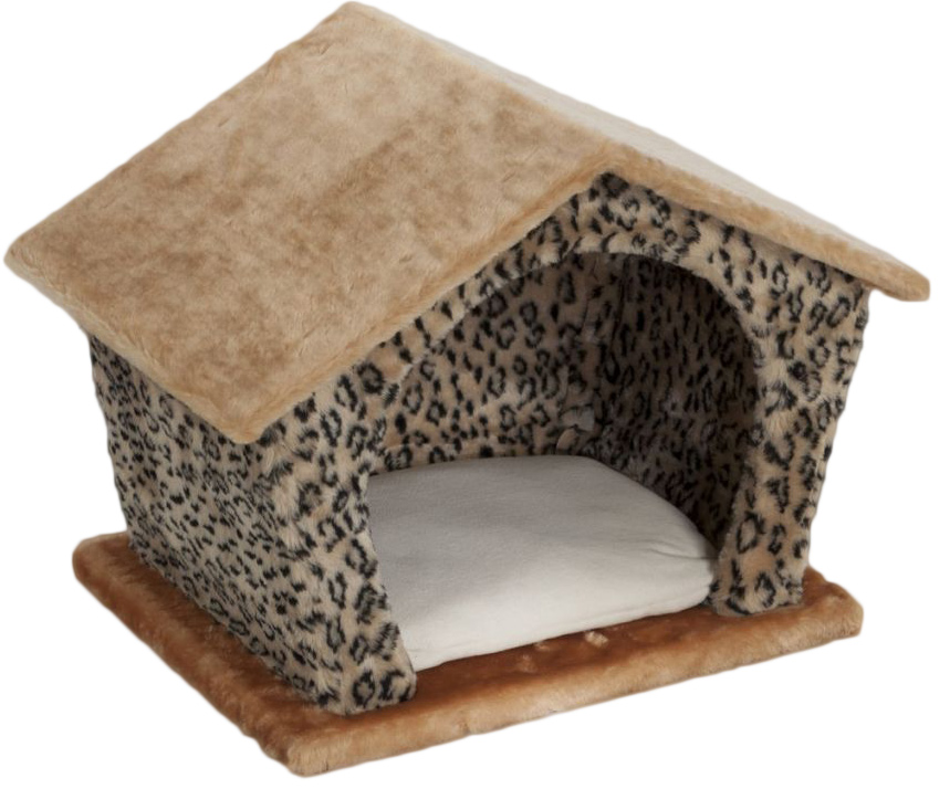 Домик для животных Велес  Изба , цвет: желтый, коричневый, 45 х 35 х 40 см - Лежаки, домики, спальные места