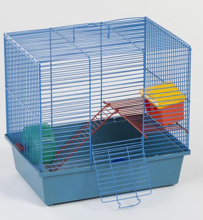 Клетка для грызунов Велес Lusy Hamster-2к, 2-этажная, 35 х 26 х 26 см215Качественные и красивые клетки Велес для грызунов дадут вам и вашему любимцу уверенность в том, что у него есть свой дом, в котором комфортно и удобно.