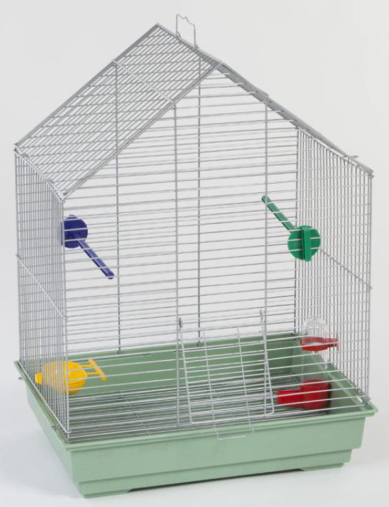 Клетка для птиц Велес Lusy Fly, разборная, цвет: серебристый, 30 х 42 х 63 см502хКрасивые и качественные клетки производства Велес создадут уют вашему питомцу, а вам уверенность в том, что во время вашего отсутствия ваш любимец будет на месте. Пользоваться разборной клеткой будет очень удобно.