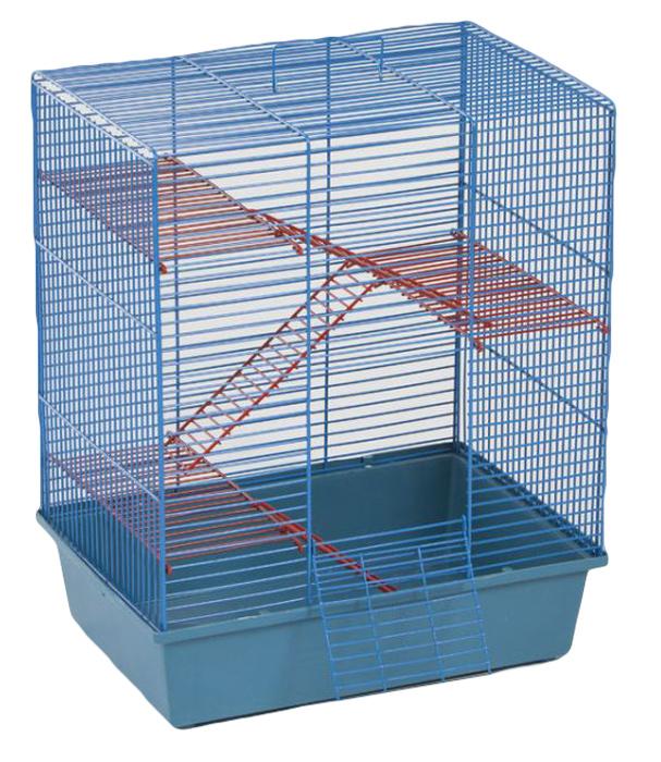Клетка для грызунов Велес Lusy Hamster-4, 4-этажная, цвет: синий, красный, 35 х 26 х 45 см410_синий, красныйКлетка Lusy Hamster-4, выполненная из полипропилена и металла, подходит для мелких грызунов. Изделие четырехэтажное, оборудовано лестницей. Клетка имеет яркий поддон, удобна в использовании и легко чистится. Сверху имеется ручка для переноски.Такая клетка станет уединенным личным пространством и уютным домиком для маленькогогрызуна.