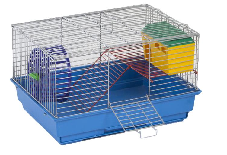 Клетка для грызунов Велес Lusy 2, 2-этажная, 30 х 42 х 25 см клетка для грызунов велес lusy hamster 2 2 этажная цвет синий бирюзовый 35 х 26 х 26 см