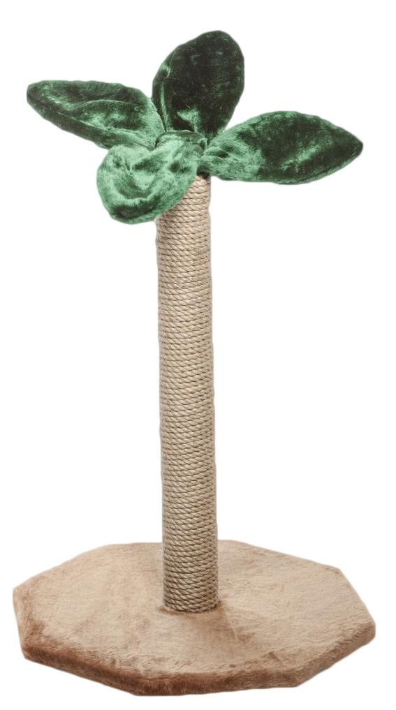 Когтеточка Велес Пальма, цвет: темно-коричневый, зеленый, 50 х 50 х 80 см