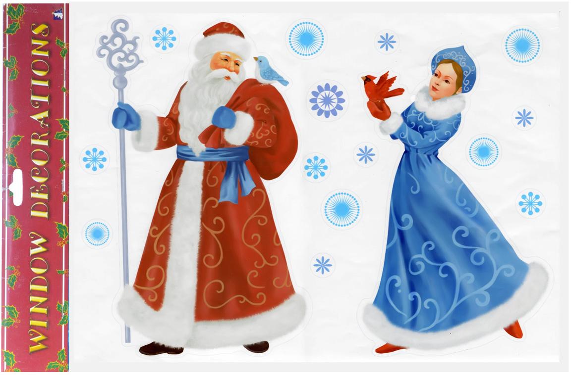 Наклейка декоративная Winter Wings Дед Мороз  Снегурочка, 30 х 40 см