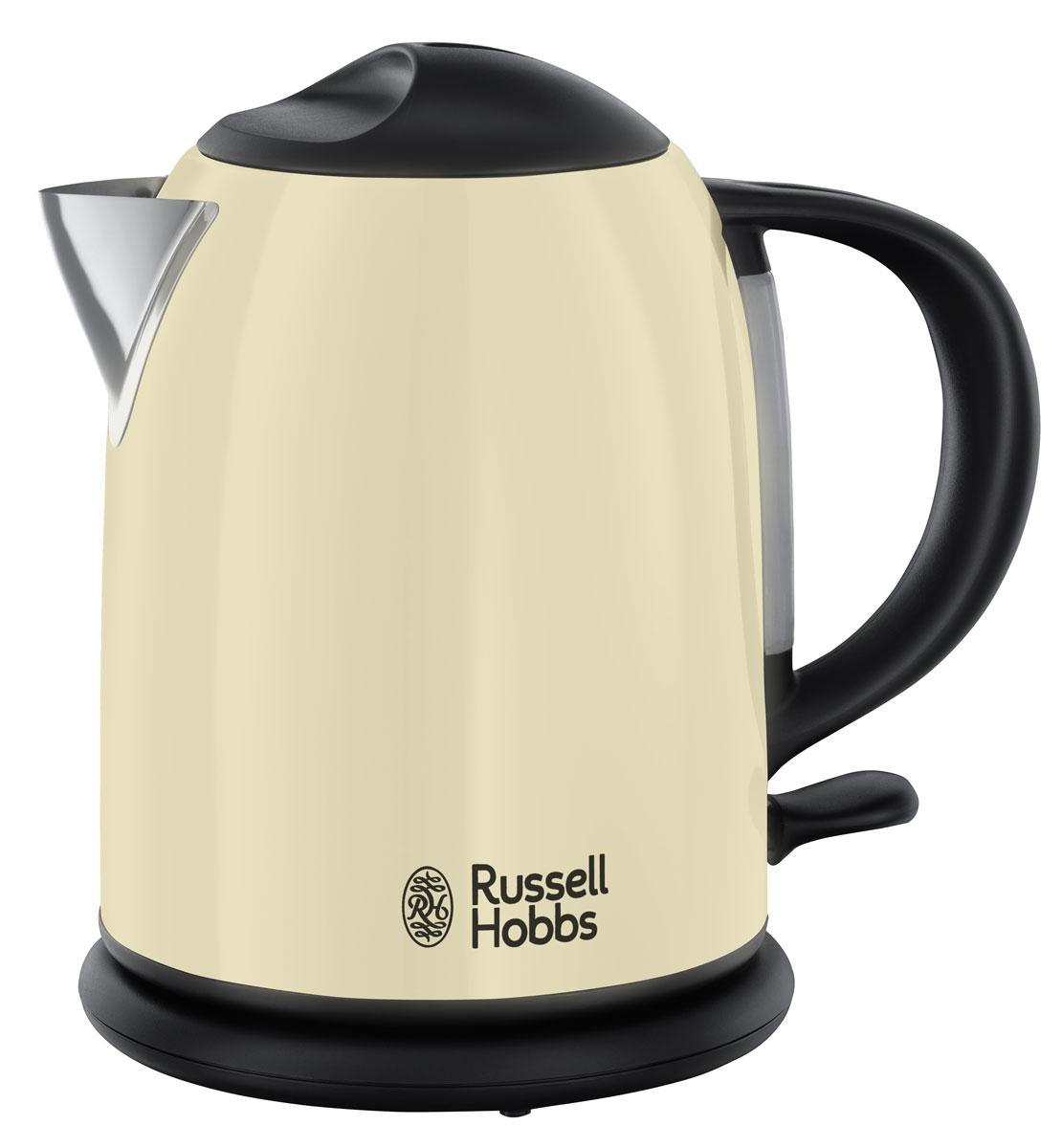 Russell Hobbs Colours Classic Cream 20194-70 электрический чайник20194-70Компактный - объем 1.0 литр, Зоны быстрого кипячения на 1-2-3 чашки, Кипячение одной чашки за 55 секунд*, Экономия до 66% электроэнергии**, «Идеальный носик» – против капель, Индикатор уровня воды, Светодиодный индикатор включения, Вращение на 360°. Скрытый нагревательный элемент. Съемный моющийся фильтр для воды.
