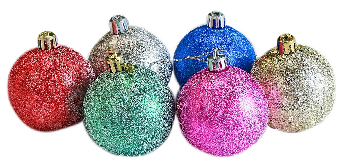 Набор новогодних подвесных украшений Sima-land Сусальный, диаметр 6 см, 6 шт2178143