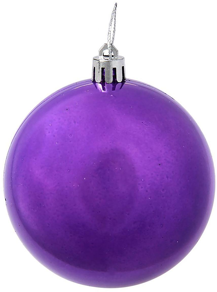 Набор новогодних подвесных украшений Sima-land Жемчужная капель, цвет: фиолетовый, диаметр 8 см, 8 шт1009339