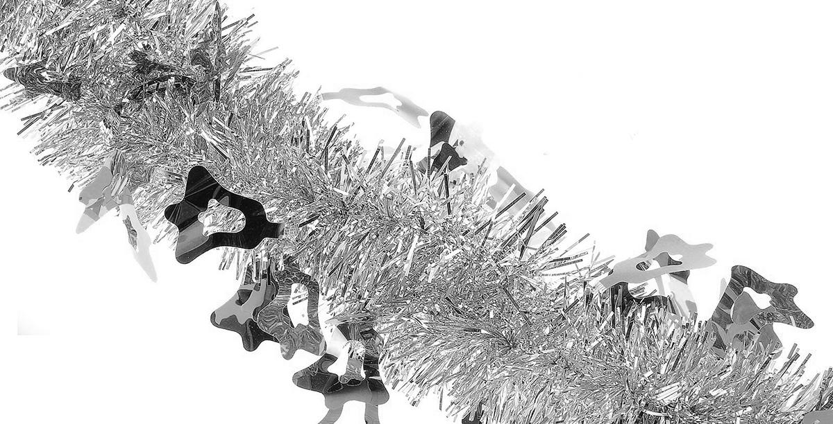 Мишура новогодняя Sima-land, цвет: серебристый, диаметр 5 см, длина 2 м. 702617702617Мишура новогодняя Sima-land, выполненная из фольги, поможет вам украсить свой дом к предстоящим праздникам. Мишура декорирована колокольчиками и армирована, то есть имеет проволоку внутри и способна сохранять приданную ей форму. Новогодняя елка с таким украшением станет еще наряднее. Новогодней мишурой можно украсить все, что угодно - елку, квартиру, дачу, офис - как внутри, так и снаружи. Можно сложить новогодние поздравления, буквы и цифры, мишурой можно украсить и дополнить гирлянды, можно выделить дверные колонны, оплести дверные проемы. Коллекция декоративных украшений из серии Зимнее волшебство принесет в ваш дом ни с чем несравнимое ощущение праздника! Создайте в своем доме атмосферу тепла, веселья и радости, украшая его всей семьей.