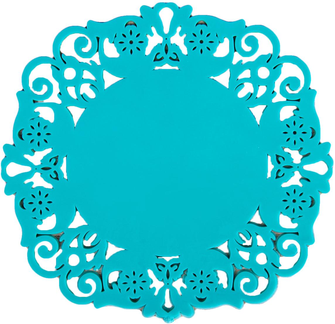 Набор подставок под горячее Доляна Чаепитие, цвет: бирюзовый, 10 см, 4 шт812066_бирюзовыйСиликоновая подставка под горячее — практичный предмет, который обязательно пригодится в хозяйстве. Изделие поможет сберечь столы, тумбы, скатерти и клеёнки от повреждения нагретыми сковородами, кастрюлями, чайниками и тарелками.