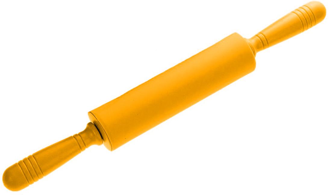 Скалка Доляна Севилья, цвет: оранжевый, 43 х 5 см118931_оранжевыйСкалка — необходимый на кухне предмет. Изделие из силикона представляет собой усовершенствованную версию привычного инструмента. Яркий дизайн делает предмет украшением арсенала каждого повара. Готовку облегчают удобные ручки.