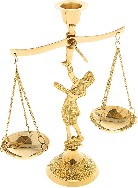 Подсвечник Ангел с чашей весов, цвет: золотистый, 6 х 6 х 16 см841213Подсвечник Ангел с чашей весов словно настоящий королевский аксессуар, который недавно стоял в огромном коридоре большого царского замка. Его блеск переливается в лучах света, хочется прикоснуться к нему или даже взять в руки, чтобы ощутить тяжесть латуни и нежные изгибы подсвечника.Такой грациозный предмет станет актуальным подарком на семилетнюю годовщину свадьбы, юбилей, 8 Марта и любой другой праздник. Подсвечник, который подчеркнет ваш безупречный вкус!