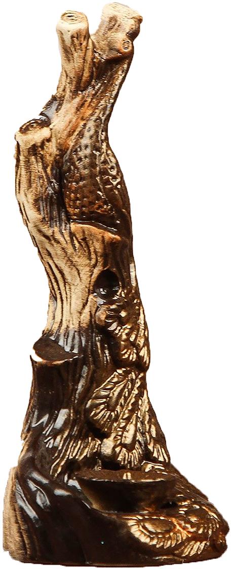Подсвечник Керамика ручной работы Павлин, цвет: бронзовый, 21 х 9 х 10 см2504013Известно, что на пламя можно смотреть вечно: его мягкое золотистое сияние чарует и проясняет сознание. Огонь, льющийся из подсвечника, притягивает наше внимание еще больше. Такой дуэт делает атмосферу загадочной и романтичной.