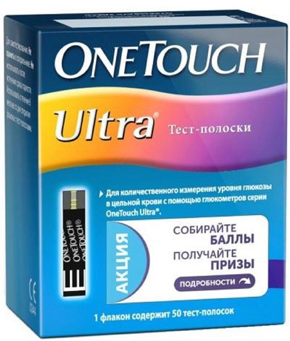 OneTouch Тест-полоски Ultra №50