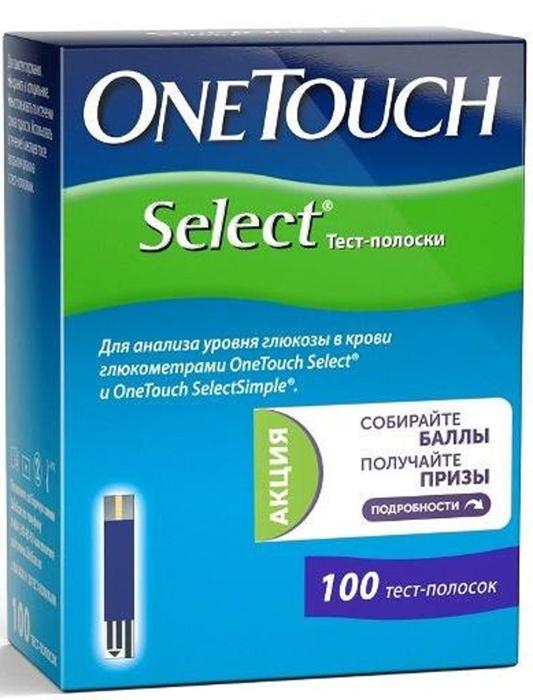 OneTouch Тест-полоски Select №100