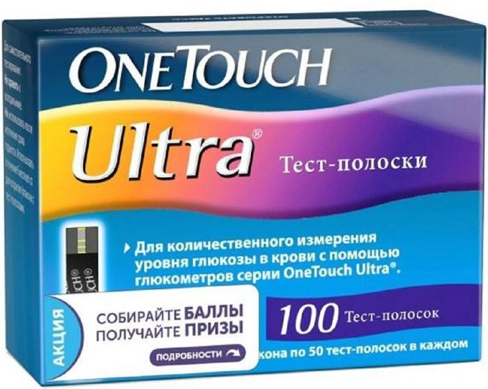 OneTouch Тест-полоски Ultra №100