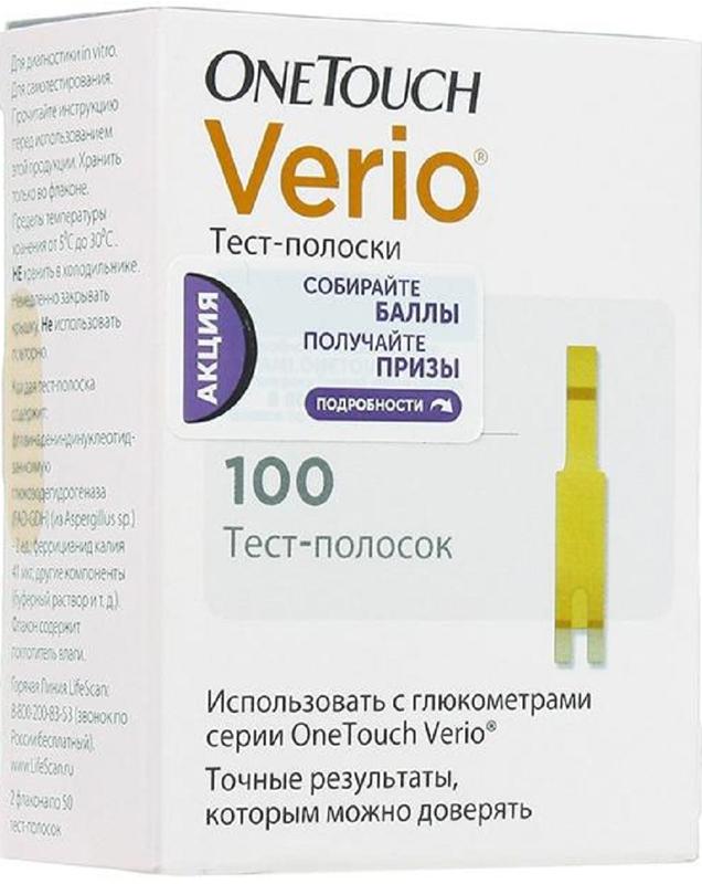 OneTouch Тест-полоски Verio №100 - Аптека