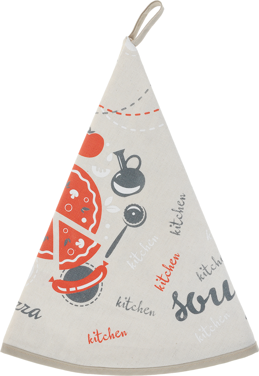 Полотенце кухонное От Шефа. Кухня, диаметр 70 см627-004_-кухняКухонное полотенце LarangE От Шефа. Кухня изготовлено из льна и хлопка и оформлено рисунком. Полотенце идеально впитывает влагу и сохраняет свою мягкость даже после многих стирок. Полотенце LarangE От Шефа. Кухня - отличный вариант для практичной и современной хозяйки.
