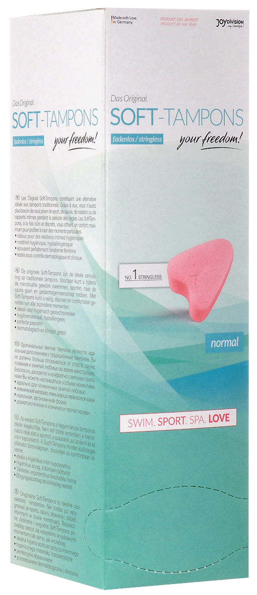 JoyDivision Normal Тампоны мягкие Sport, Spa&Love, 10шт12201 Уважаемые клиенты! Обращаем ваше внимание на то, что упаковка может иметь несколько видов дизайна.Поставка осуществляется в зависимости от наличия на складе.