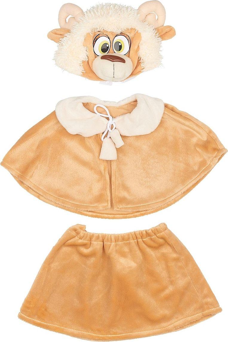 Карнавалия Карнавальный костюм для девочки Овечка цвет светло-коричневый размер 122 89074 костюм желтой сказочной феи 32 34