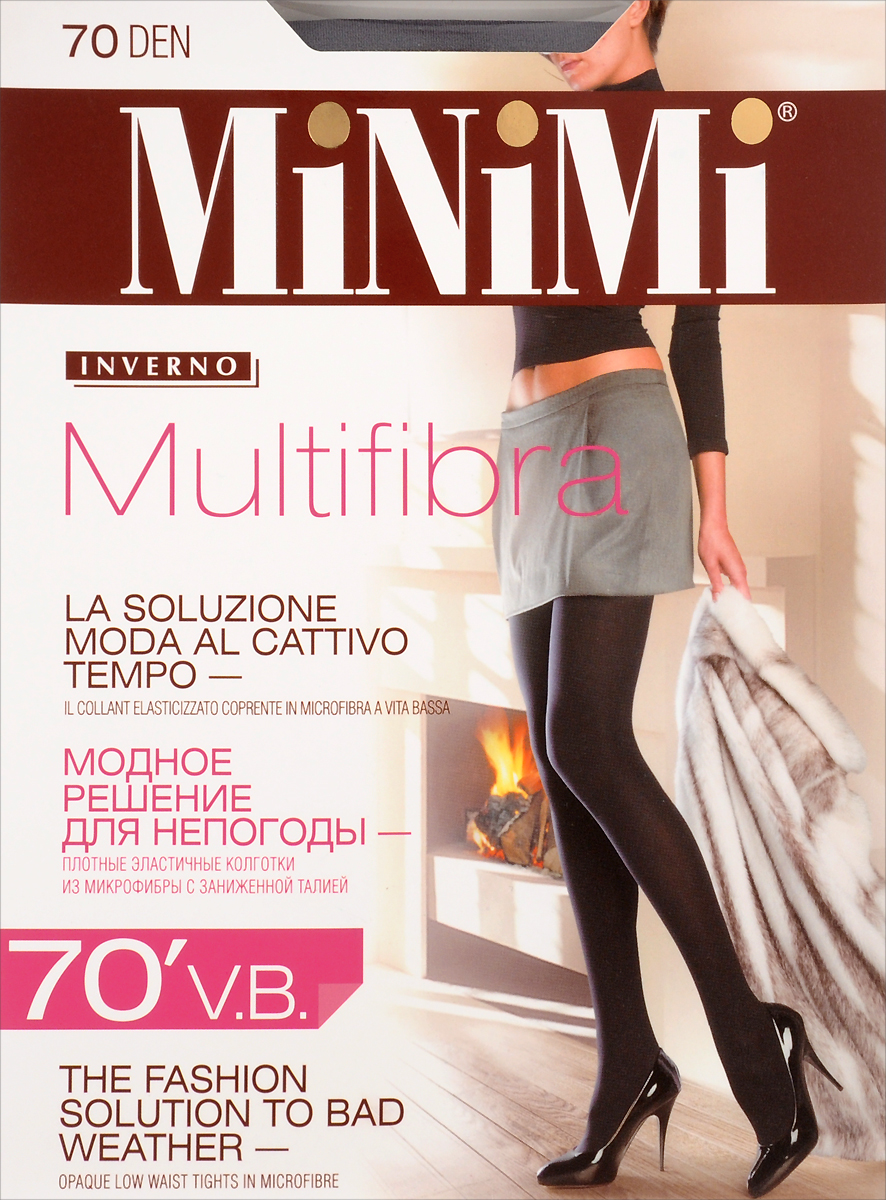 Колготки Minimi Multifibra 70, цвет: Fumo (серый). Размер 4 (46/48)Multifibra 70Плотные непрозрачные колготки из мягкой микрофибры, однородные по всей длине, с комфортным широким поясом, плоскими швами и ластовицей.Плотность 70 DEN.
