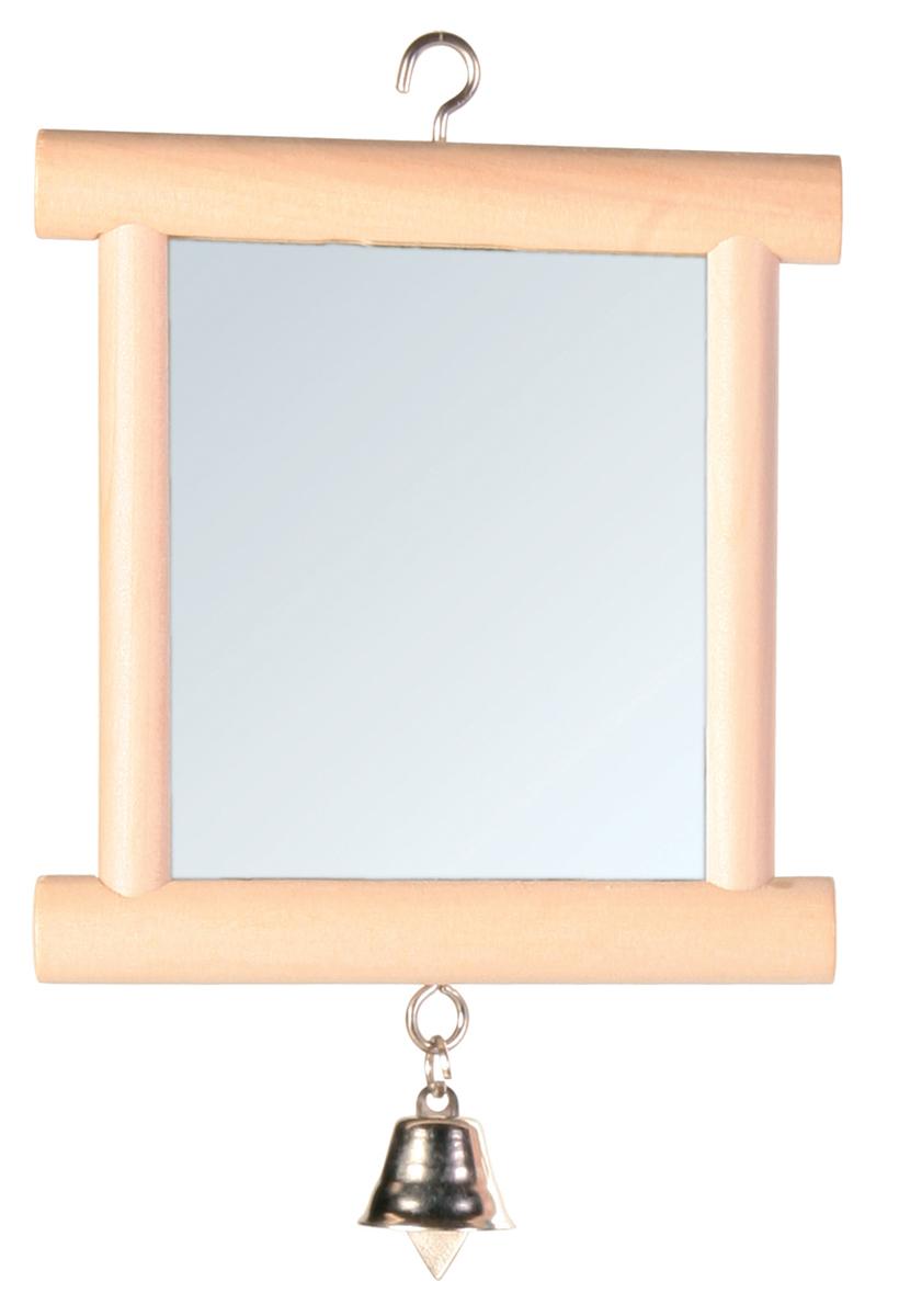 Игрушка для попугая Trixie Зеркало, с колокольчиком, 9 х 10 см