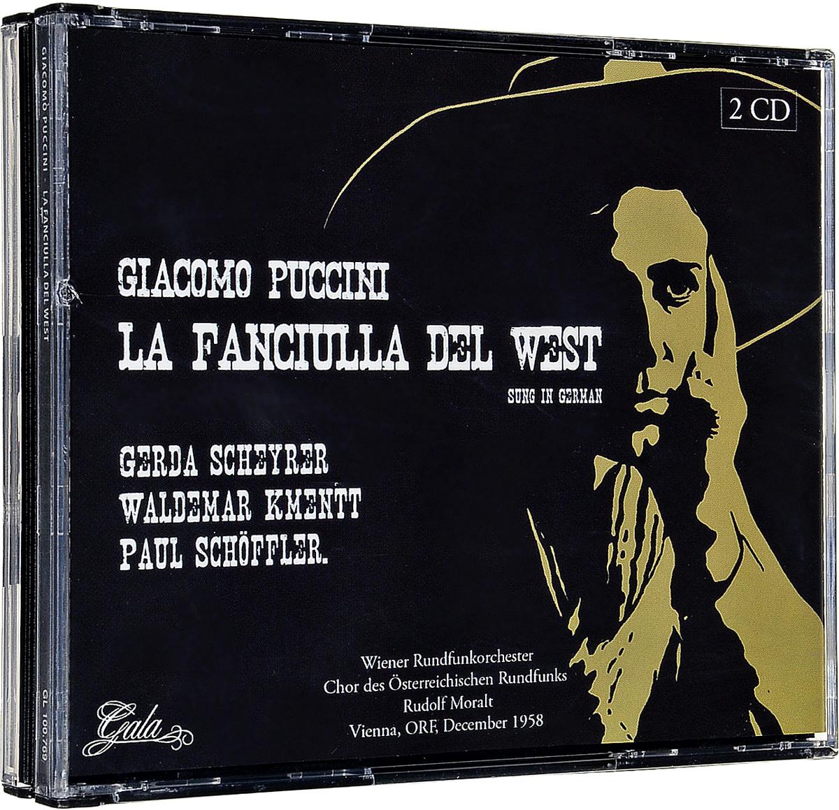 Джакомо Пуччини Giacomo Puccini. La Fanciulla Del West (Vienna, Orf, December 1958) (2 CD) puccini la boheme