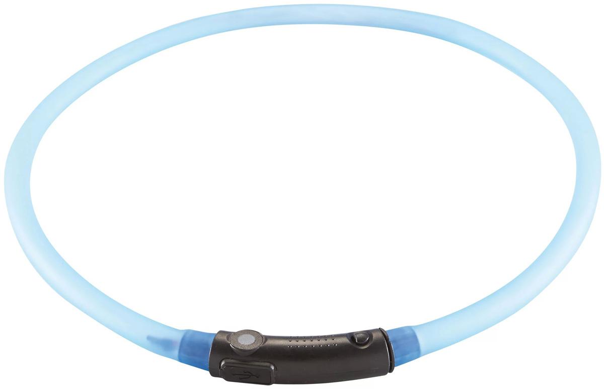Ошейник Hunter LED Yukon, cветящийся, цвет: голубой, обхват шеи 20-70 см yukon sibir т 20 50x50 21012 page 3