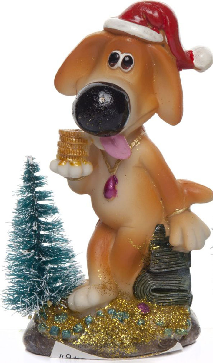 Фигурка House & Holder Собака в колпаке с елкой free ship gold finish tumbler holder double cup holder small crystal