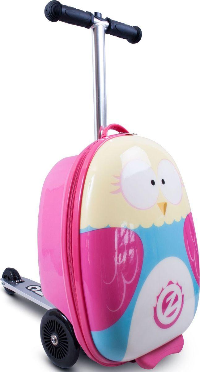 Zinc Flyte Самокат-чемодан детский OwlZC03909Самокат-чемодан Сова серии Flyte от британского производителя ZINC - потрясающая новинка, которая приведет в восторг малышей и позволит сделать путешествия с детьми комфортнее и увлекательней! Самокат-чемодан Flyte Owl (Сова) выполненный в виде милой совы непременно порадует маленьких путешественниц. Чемодан обтекаемой формы из ударопрочного, гибкого нейлона, закрывается на молнию. Внутри чемодана имеются эластичные ремни для надежного закрепления вещей и карман на молнии для необходимых мелочей. Чемодан-самокат позволит детям взять с собой в поездку любимые игрушки и необходимые вещи, и, конечно, с таким самокатом ребенок точно не будет скучать во время путешествия, ожидания поезда или регистрации на рейс в аэропорту. Колеса самоката выполнены из полиуретана, платформа и рулевая стойка из алюминия. Подвижное рулевое управление помогает детям лучше держать равновесие и управлять самокатам. Руль самоката регулируется по высоте. Складная конструкция самоката очень удобна во время поездок, самокат складывается в углубление чемодана. Самокат-чемодан Flyte можно брать с собой в ручную кладь на борт самолета. Основные характеристики: устойчивый к ударам и загрязнению нейлоновый корпус чемодана, размер, соответствующий ручной клади в транспорте,объем чемодана - 25 литров, максимально допустимый вес ребенка - 50 кг, задний ножной тормоз,складная конструкция,яркий дизайн. Самокат предназначен для детей от 4 до 8 лет (рост ребенка 100-130 см). Максимальная высота рулевой стойки - 75 см.