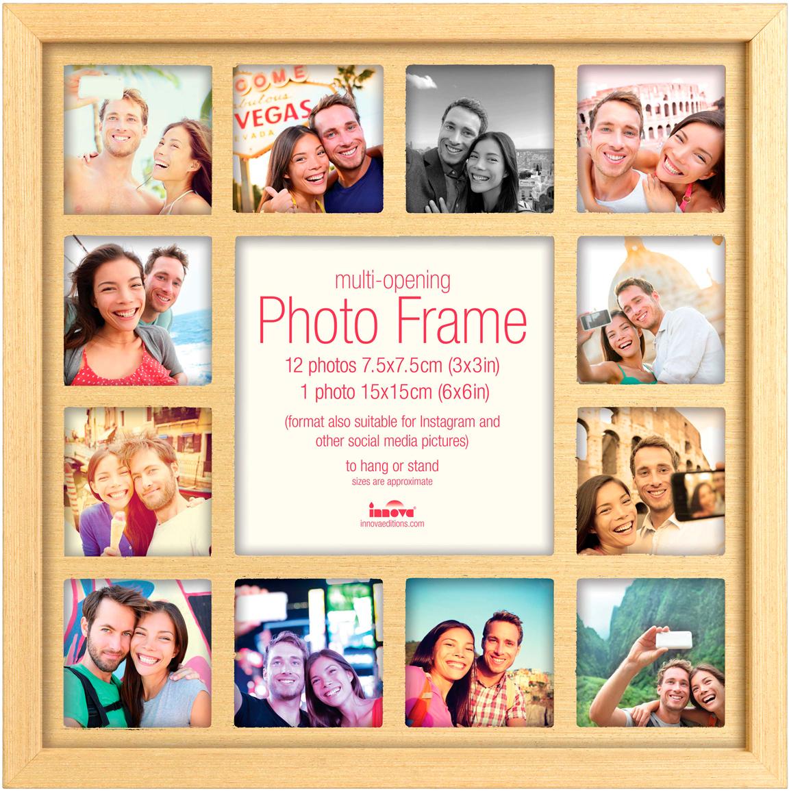 Фоторамка для фото из Инстаграм Innova, на 13 фото. PI05365PI05365Фоторамка для фото из Инстаграм Innova - прекрасный способ красиво оформить вашифотографии. Изделие рассчитано на 13 фотографий. Фоторамка выполнена из дерева. Такая фоторамка поможет сохранить на память самые яркие моменты вашей жизни, а стильныйдизайн сделает ее прекрасным дополнением интерьера.
