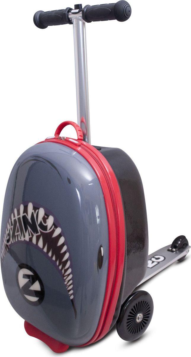 Zinc Flyte Самокат-чемодан детский Shark -  Ранцы и рюкзаки