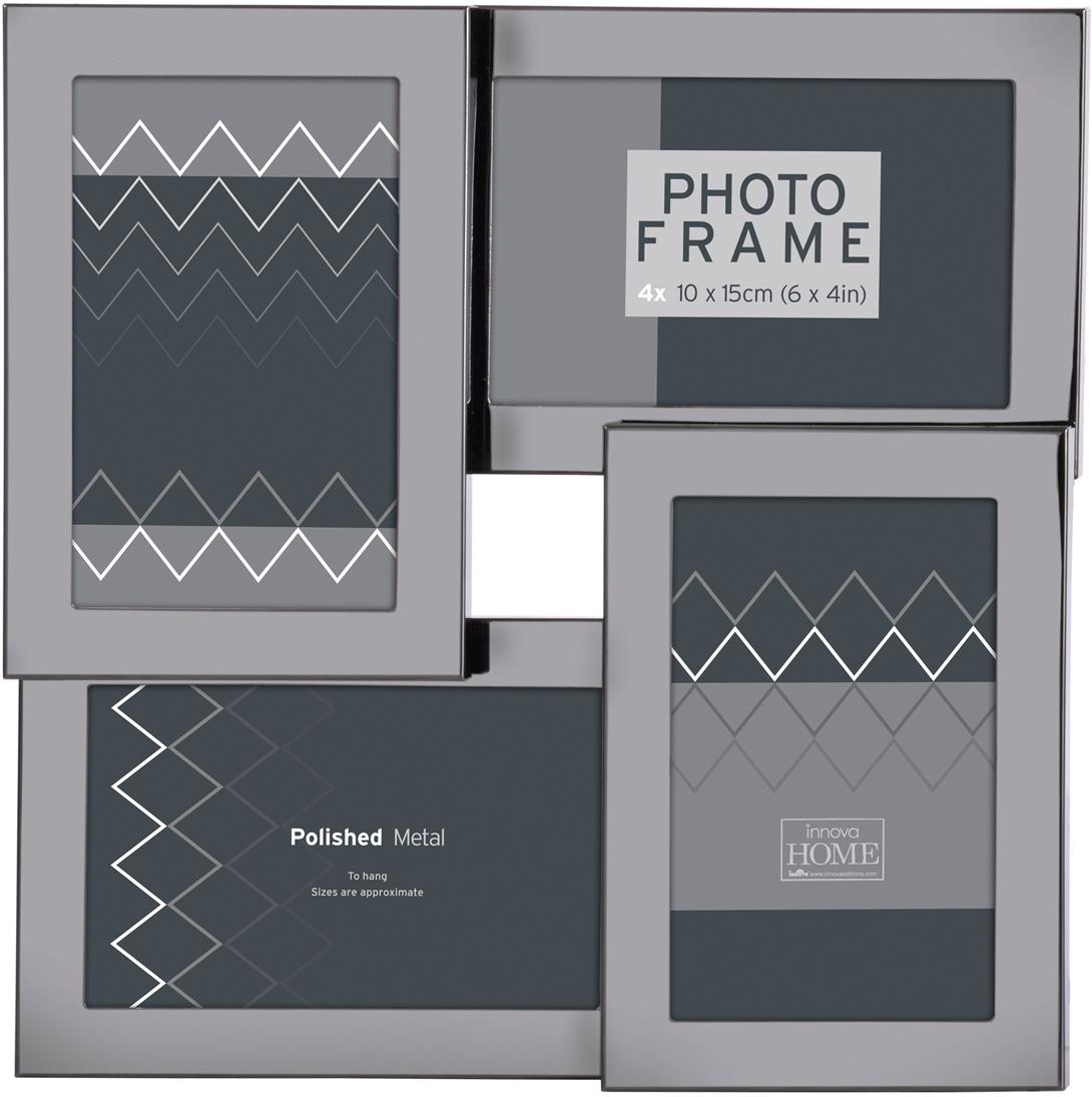 Фоторамка Innova Темное серебро, на 4 фото, 10 х 15 см. PI07930 фоторамка букет роз на 2 фотографии