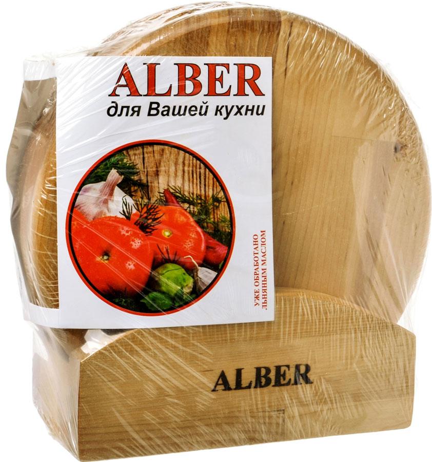 Набор досок разделочных Alber Круг, диаметр 25 см, 3 шт0080040Прочные, гладкие, с естественной березовой текстурой, доски обработаныльняным маслом для предохранения от рассыхания. Изделия имеютиндивидуальную пленочную упаковку и оригинальную гравировку. Рекомендациипо уходу: - нельзямыть деревянную доску в посудомоечной машине, а также оставлять надолгопогруженной в воду;- после каждого использования нужно промыть доску мыльной водой, тщательносполоснуть проточной водой и вытереть насухо;- хранить доски лучше в подвешенном состоянии или просто поставиввертикально; - новую сухую доску (если она не обработана) перед началомнужно смазать маслом; масло должно быть безопасным и устойчивым к порче прикомнатной температуре (оптимальный вариант - льняное масло, в отличие отподсолнечного или оливкового, которые со временем портятся); повторять этупроцедуру необходимо в среднем раз в месяц - по мере высыхания масла;- заменять разделочную доску на кухне рекомендуется 1 раз в год.
