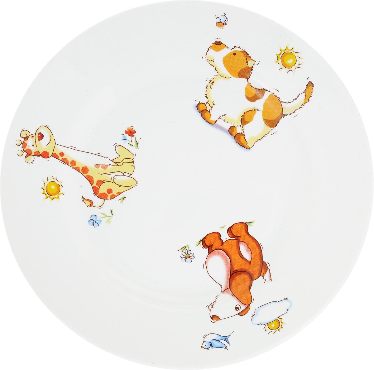 Кубаньфарфор Тарелка детская Зоопарк1301375_вид 2Фаянсовая детская посуда Кубаньфарфор с забавным рисунком понравится каждому малышу. Изделие изкачественного материала станет правильным выбором для повседневной эксплуатации и поможет превратить каждый прием пищи в радостное приключение. Особенности: - простота мойки, - стойкость к запахам, - насыщенный цвет. Уважаемые клиенты!Обращаем ваше внимание на возможные изменения в дизайне рисунка. Поставка осуществляется в зависимостиот наличия на складе.