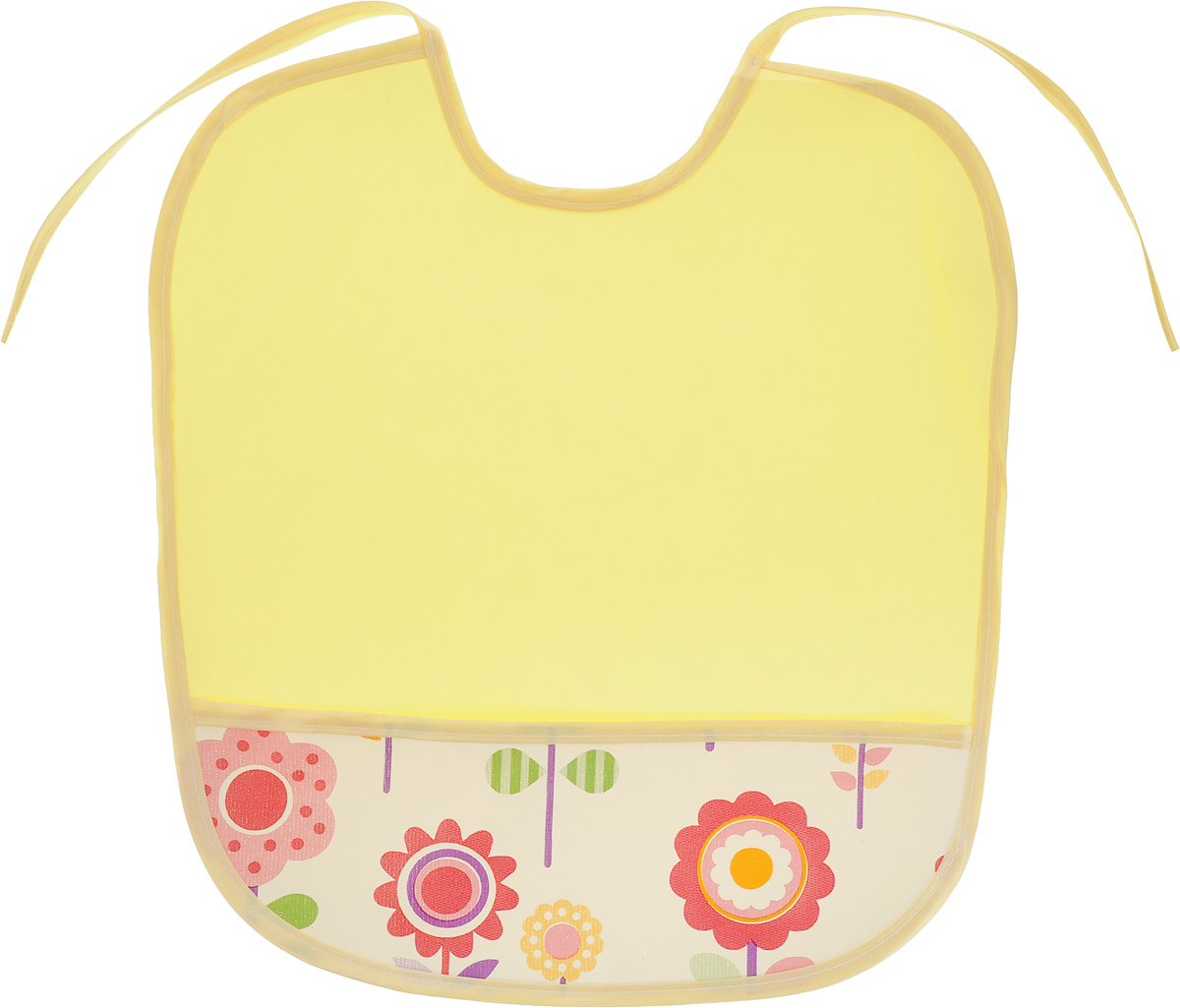 Колорит Нагрудник с карманом Цветы цвет желтый 33 х 33 см