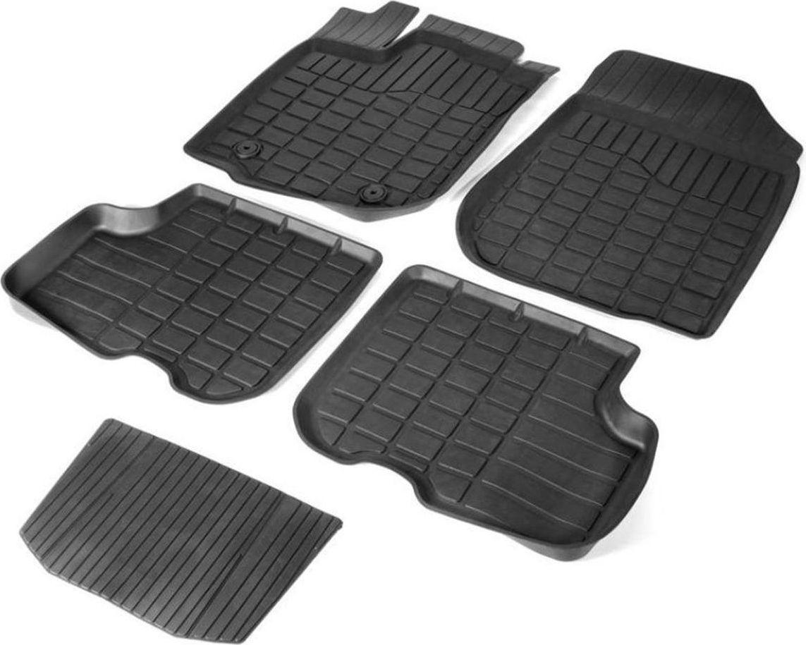 Набор автомобильных ковриков Rival для Hyundai Sonata 2017-н.в./Kia Optima 2016-н.в., 5 шт62807001Прочные и долговечные коврики Rival, изготовленные из высококачественного и экологичного сырья, полностью повторяют геометрию салона вашего автомобиля. - Надежная система крепления, позволяющая закрепить коврик на штатные элементы фиксации, в результате чего отсутствует эффект скольжения по салону автомобиля. - Высокая стойкость поверхности к стиранию. - Специализированный рисунок и высокий борт, препятствующие распространению грязи и жидкости по поверхности ковра. - Перемычка задних ковров в комплекте предотвращает загрязнение тоннеля карданного вала. - Коврики произведены из первичных материалов, в результате чего отсутствует неприятный запах в салоне автомобиля. - Высокая эластичность материала позволяет беспрепятственно эксплуатировать коврики при температуре от -45°C до +45°C.