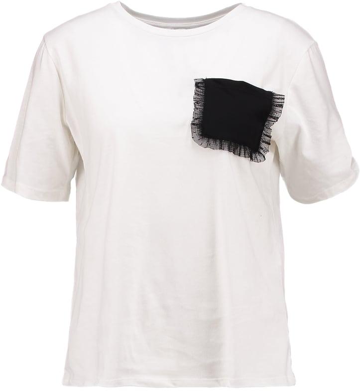 Футболка женская Only, цвет: белый. 15152454. Размер M (44) куртка женская only цвет черный 15140836