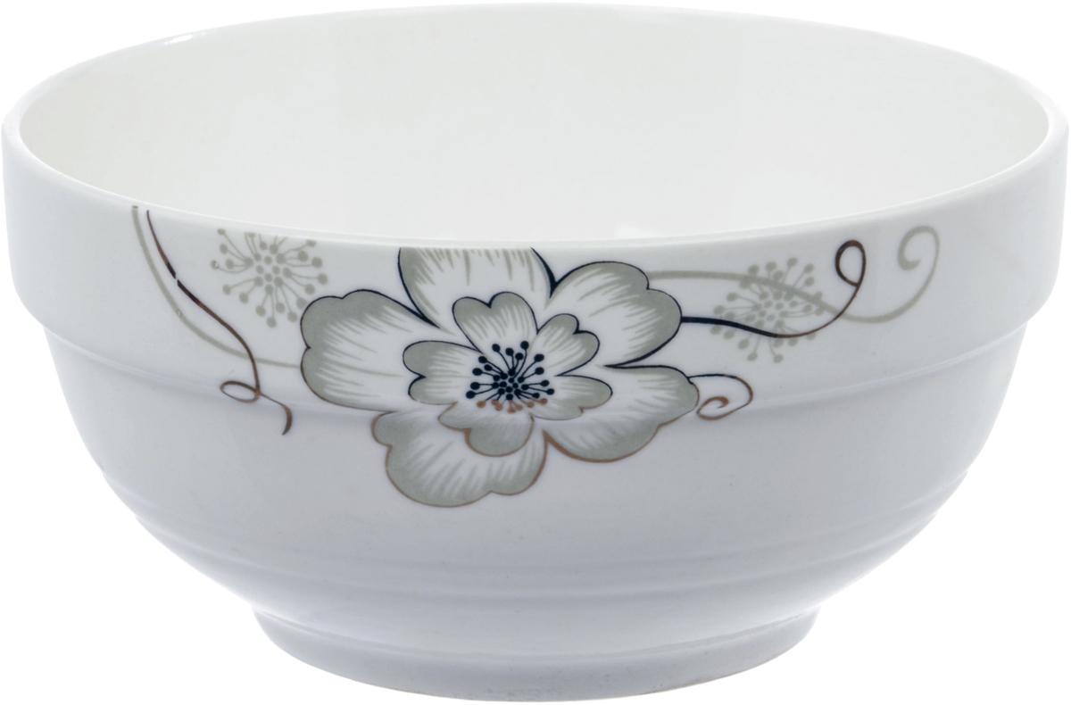 Салатник Ningbo Royal Серый цветок, диаметр 13 см фарфоровая посуда дулево на авито