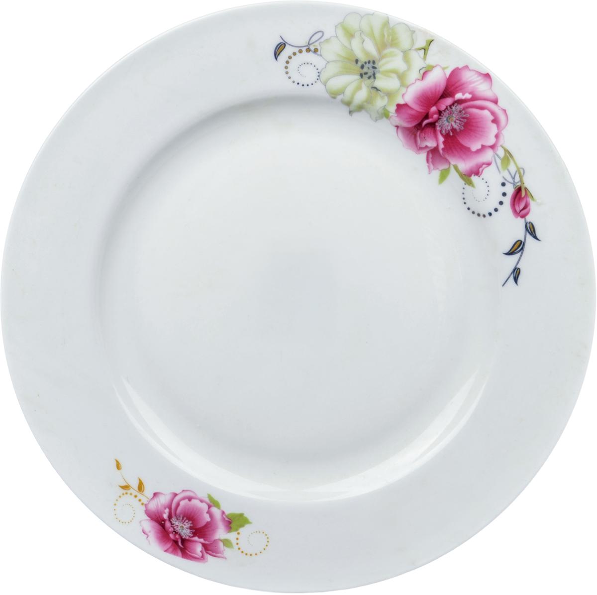 Тарелка Ningbo Royal Роза, диаметр 23 см посуда из фарфора оптом