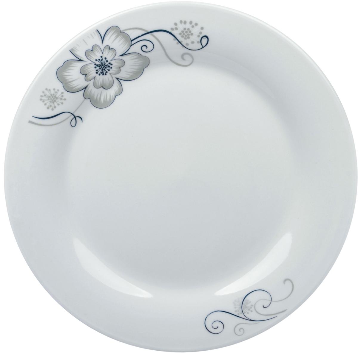 Тарелка Ningbo Royal Серый цветок, диаметр 23 смRUCH068-14Фарфоровая столовая посуда фабрики Royal Union удивит вас приятнымсочетанием отменного качества фарфора, классическими цветочными декорами.Посуда найдет свое применение как в городской квартире, так и в загородномдоме. Классический декор будет одинаково хорошо смотреться в любое времягода. Посуду из фарфора RU можно использовать в СВЧ и мыть в ПММ.