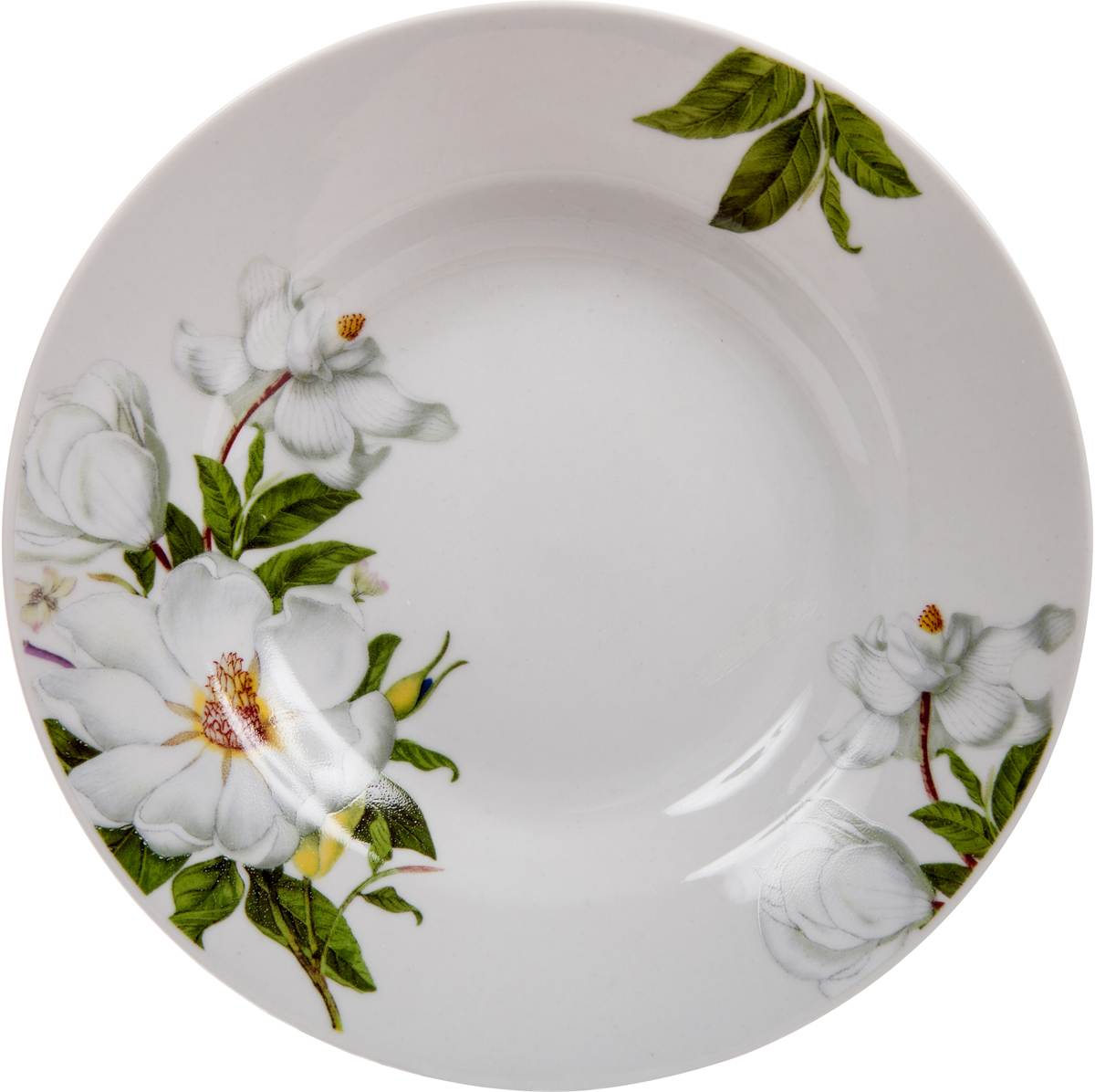 """Тарелка Dasen """"Лазурный орнамент"""" изготовлена из высококачественного фарфора. Предназначена для красивой подачи различных блюд. Изделие декорировано изящным рисунком. Такая тарелка украсит сервировку стола и подчеркнет прекрасный вкус хозяйки. Она дополнит коллекцию вашей кухонной посуды и будет служить долгие годы.  Можно мыть в посудомоечной машине и использовать в СВЧ."""