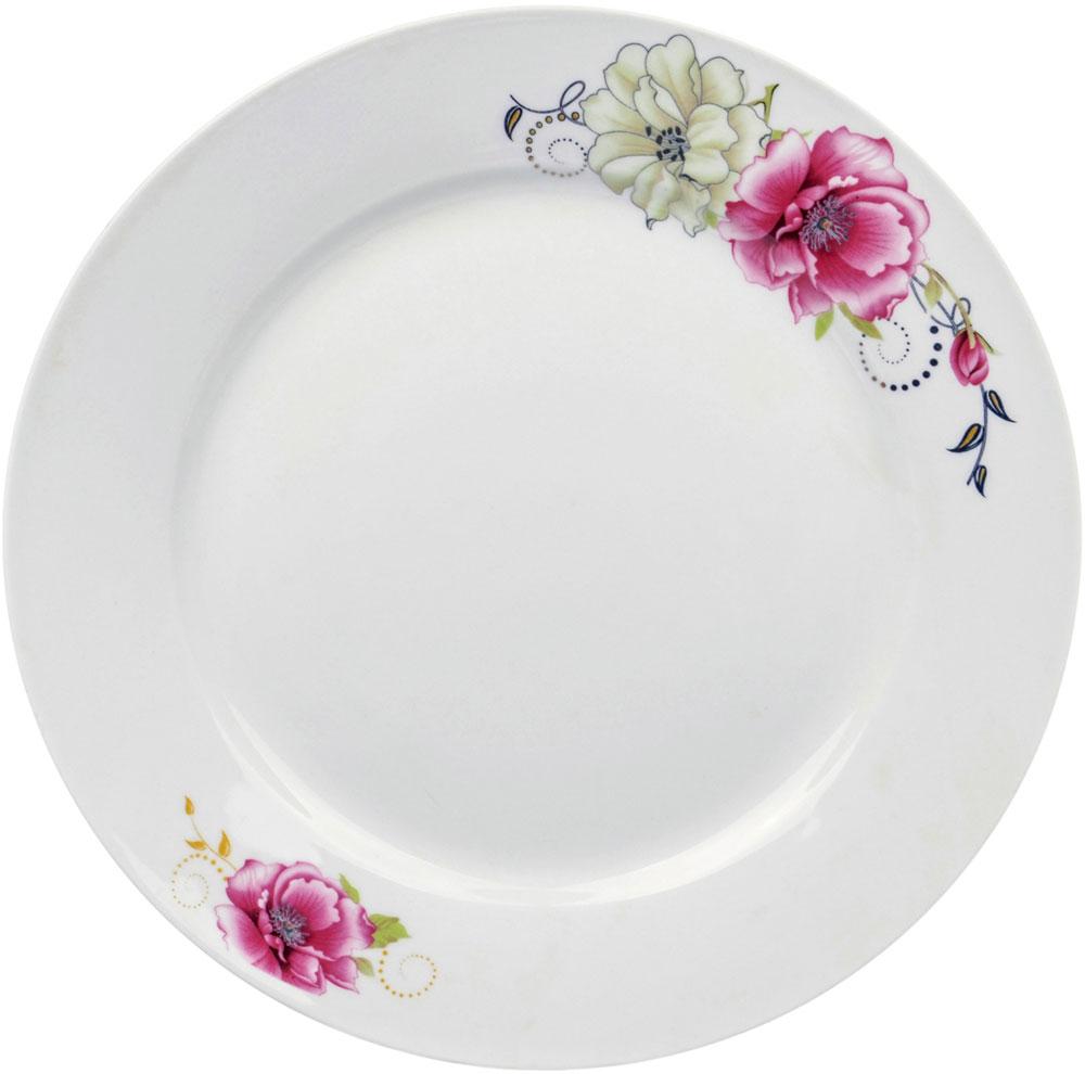 Тарелка десертная Ningbo Royal Роза, диаметр 20 см фарфоровая посуда дулево на авито