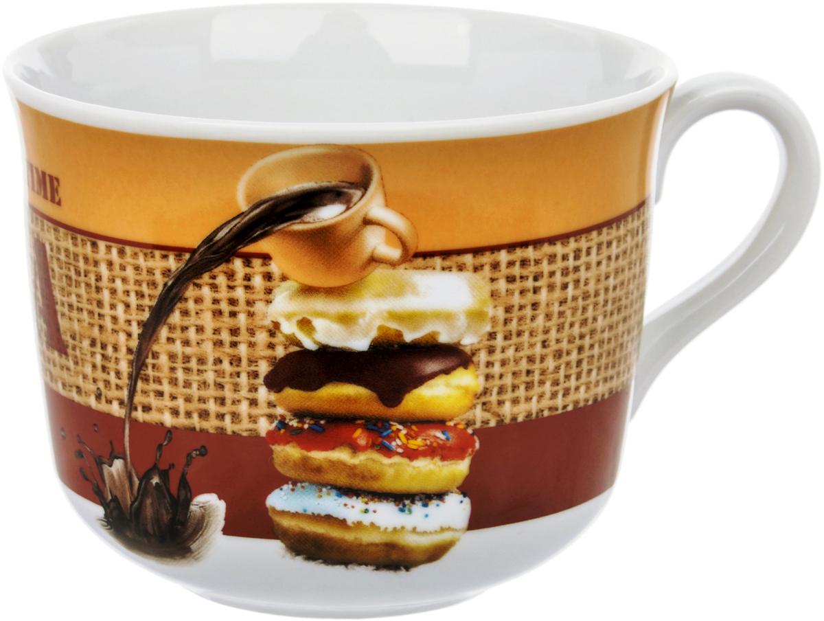 Чашка чайная Dasen Пончики, 450 мл фарфоровая посуда дулево на авито