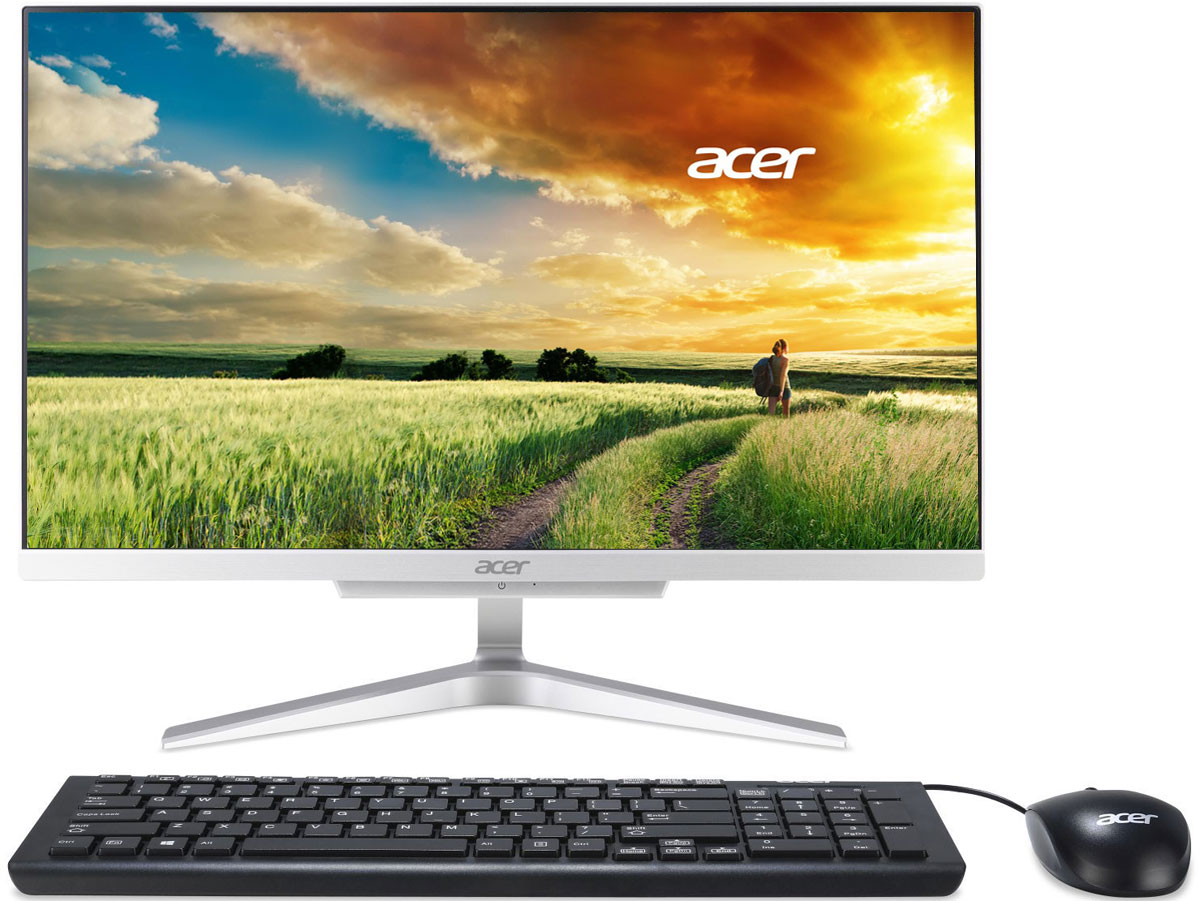 Acer Aspire C22-860, Silver моноблок (DQ.B93ER.001)DQ.B93ER.001Acer Aspire C22-860 - непревзойденно компактный компьютер с тонким корпусом, который позволит собраться всей семье, чтобы разделить впечатления.Сверхтонкий дизайн экономит место на столе и элегантно дополняет интерьер.Съемная вебкамера позволит провести для ваших друзей и родных виртуальную экскурсию по дому.Превосходные характеристики, функциональность и быстродействие этого компьютера сделают совместное времяпрепровождение еще интереснее.Выполняйте повседневные задачи, смотрите видео и работайте в Интернете с комфортом благодаря процессору Intel Core.Разделите впечатления с близкими и друзьями благодаря экрану с разрешением FHD и реалистичной цветопередачей.Технологии Acer BlueLightShield и Flickerless обеспечивают защиту ваших глаз от напряжения.Благодаря продуманному расположению беспроводной антенны 802.11ac обеспечивается надежный сигнал беспроводного подключения.Точные характеристики зависят от модели.Компьютер сертифицирован EAC и имеет русифицированную клавиатуру и Руководство пользователя.