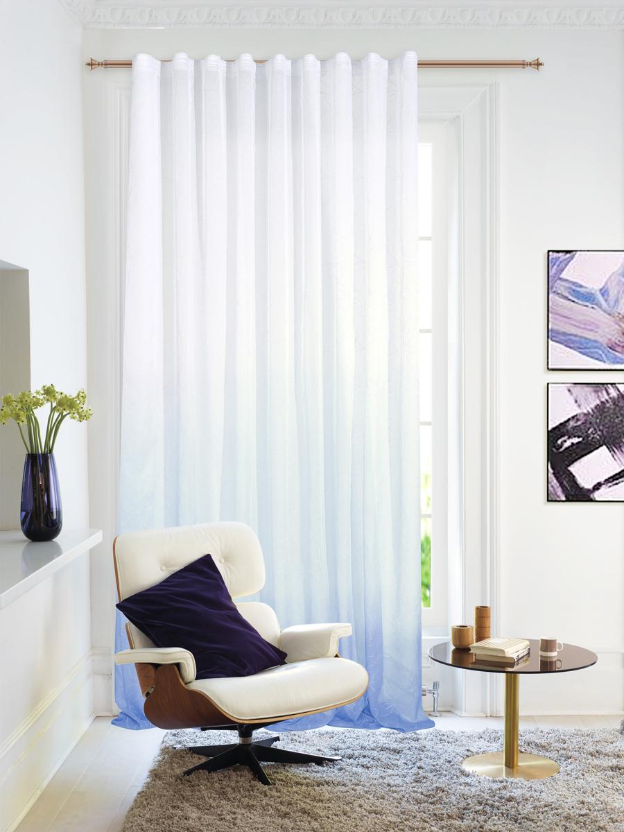 """Изящная штора """"Garden"""" выполнена из тонкой полупрозрачной ткани, имитация льна с эффектом  радуги и растительным рисунком.   Приятная текстура и цвет штор привлекут к себе внимание и органично впишутся в интерьер  помещения.   Штора крепится на карниз при помощи ленты, которая поможет красиво и равномерно  задрапировать верх."""