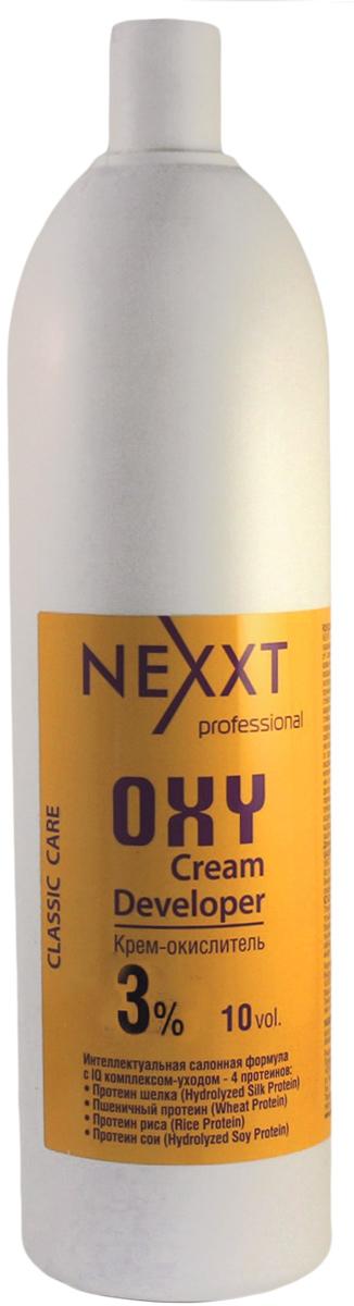 Nexxt Professional Крем-окислитель 3%, 1000 млCL211103С протеином шелка, пшеничным протеином, протеином риса и протеином сои. Интеллектуальная салонная формула с IQ комплексом - уходом 4 протеинов. Профессиональный интеллект NEXXT крем-окислителя, помимо самостоятельного контроля оптимального уровня PH на всех этапах окрашивания, заключается в эксклюзивной soft-адаптации эффекта ионной силы раствора, которая обеспечивает быстрое щадящее проникновение красящих пигментов, образующих длинную прочную цепочку, гарантирующую стойкость цвета. Nexxt крем-окислитель используется для обесцвечивания и крашивания волос. В процессе окрашивания крем-окислитель выполняет следующие основные функции: выравнивание и контроль РН; осветления природного меланина; окисление пигментов. ВНИМАНИЕ: только для профессионального применения в парикмахерских и салонах. Защищать от воздействия света. Хранить в прохладном месте. Содержит перекись водорода. Избегать попадания в глаза, в противном случае обильно промыть их водой. Использовать защитные перчатки. Беречь от детей. Перед использованием обязательно проведите тест на восприимчивость препарата, отсутсвие аллергии и повышеннной чувствительности к средству.