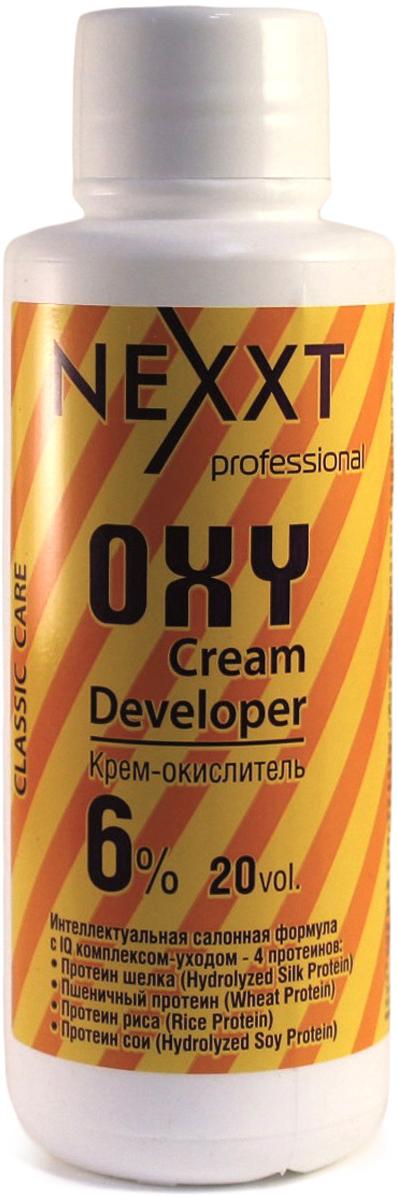 Nexxt Professional Крем-окислитель 6%, 100 млCL211109С протеином шелка, пшеничным протеином, протеином риса и протеином сои. Интеллектуальная салонная формула с IQ комплексом - уходом 4 протеинов. Профессиональный интеллект NEXXT крем-окислителя, помимо самостоятельного контроля оптимального уровня PH на всех этапах окрашивания, заключается в эксклюзивной soft-адаптации эффекта ионной силы раствора, которая обеспечивает быстрое щадящее проникновение красящих пигментов, образующих длинную прочную цепочку, гарантирующую стойкость цвета. Nexxt крем-окислитель используется для обесцвечивания и крашивания волос. В процессе окрашивания крем-окислитель выполняет следующие основные функции: выравнивание и контроль РН; осветления природного меланина; окисление пигментов. ВНИМАНИЕ: только для профессионального применения в парикмахерских и салонах. Защищать от воздействия света. Хранить в прохладном месте. Содержит перекись водорода. Избегать попадания в глаза, в противном случае обильно промыть их водой. Использовать защитные перчатки. Беречь от детей. Перед использованием обязательно проведите тест на восприимчивость препарата, отсутсвие аллергии и повышеннной чувствительности к средству.