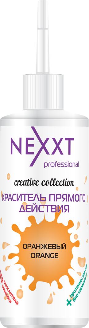 Nexxt Professional Краситель прямого действия, цвет: оранжевый, 150 млCL211166Пигменты прямого действия Nexxt Creative collection созданы для получения как стойких ярких цветов, так нежных пастельных оттенков. При их помощи можно выполнять такие процедуры как креативное окрашивание, цветной балаяж, акцентирование отдельных прядок и т.д. Легко смешиваются между собой, позволяя получить предсказуемые оттенки, как яркие, взрывные, свежие, так и стильные, классические, благородные. Помимо экстра-яркого окрашивания происходит восстановление волос, за счет входящих в состав пшеничных протеинов, плюс эффект экранирования. Благодаря ухаживающей формуле делают волосы более плотными и блестящими. Шелковые протеины способны проникать внутрь поврежденного волоса, восстанавливать и защищать волосы от внешнего воздействия. Так же хорошо оседают на поверхности волос и кожи, образуя легкую защитную пленку, практически не утяжеляя. При неоднократном использовании дают более интенсивный цвет при каждом последующем применении. Используются без окислителя. Не содержат аммиака. Применяются как на натуральных светлых волосах, так и на осветленных волосах. Можно добавлять к любому стойкому перманентному красителю для усиления цветовых оттенков. 30 грамм красителя на 1-10 грамм красителя прямого действия, в зависимости от глубины тона красителя.