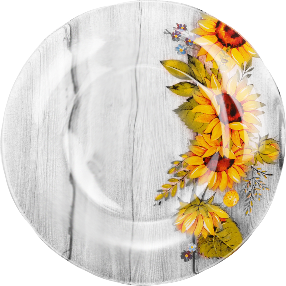 Набор тарелок Sima-land Подсолнухи, диаметр 20 см, 6 шт2293075Красивые тарелки с рисунком дополнят праздничный стол, ведь прозрачное стекло выглядит элегантно и стильно.Предметы можно использовать в микроволновой печи и посудомоечной машине.При бережном обращении изделия будут радовать вас безукоризненным внешним видом долгие годы.