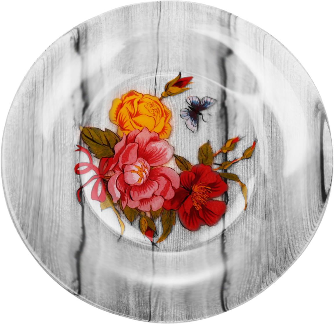 Набор тарелок Sima-land Розы, диаметр 20 см, 6 шт2293073Красивые тарелки с рисунком дополнят праздничный стол, ведь прозрачное стекло выглядит элегантно и стильно.Предметы можно использовать в микроволновой печи и посудомоечной машине.При бережном обращении изделия будут радовать вас безукоризненным внешним видом долгие годы.